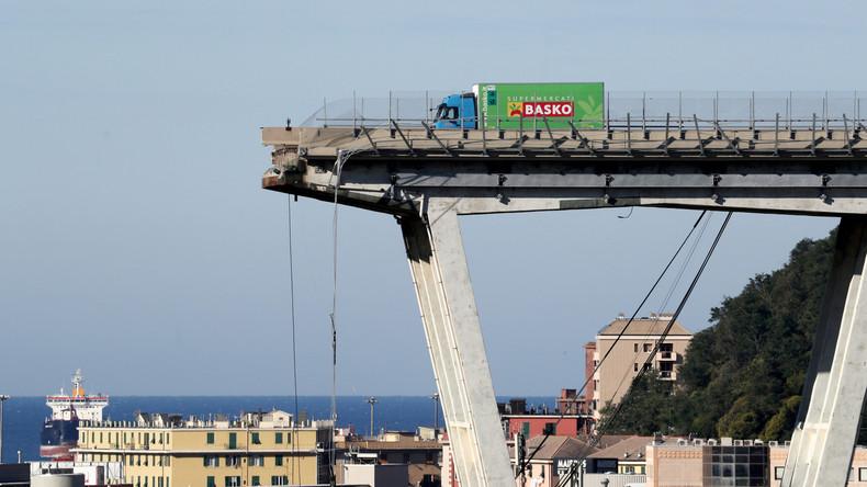 Genua gedenkt der Opfer des Brückeneinsturzes vor einem Monat