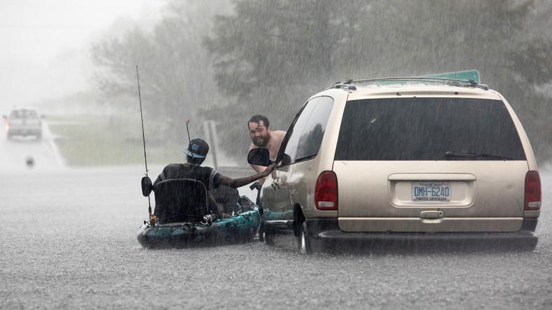 """Überschwemmungen und Tote an US-Südostküste durch Sturm """"Florence"""""""