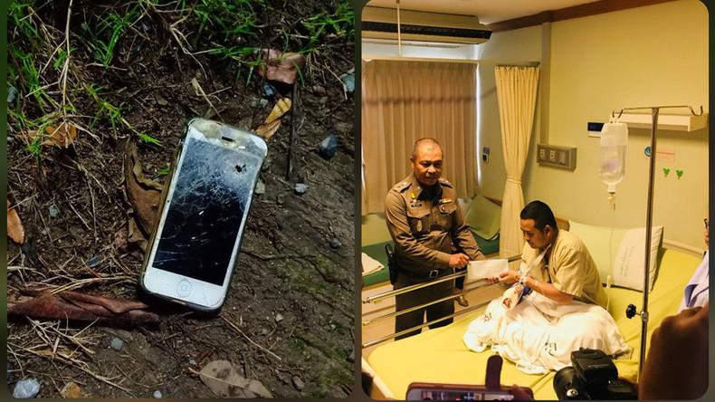 Thailand: Polizist überlebt Schießerei, weil Kugel in seinem Smartphone stecken bleibt