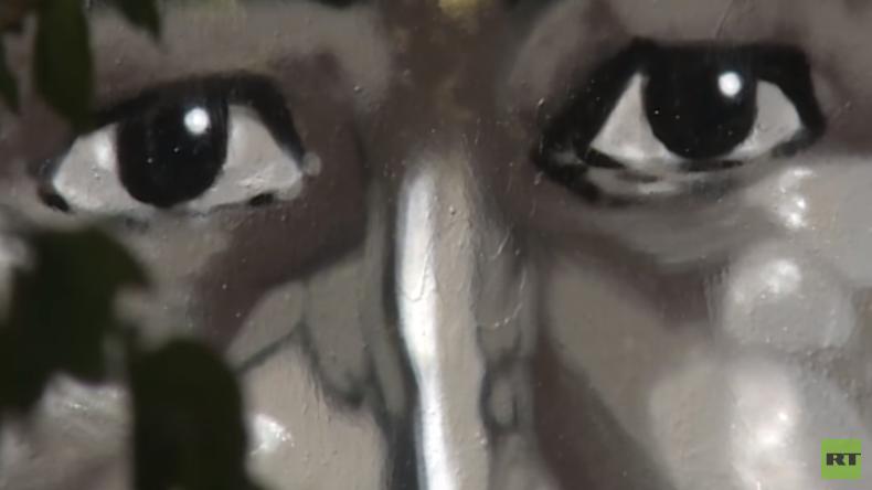 Graffiti von ermordetem Clanmitglied empört Berliner (Video)