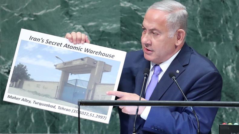 """""""Bild, das mehr sagt als 1.000 Raketen"""" - Netanjahu spricht von geheimem iranischem Atomlager"""