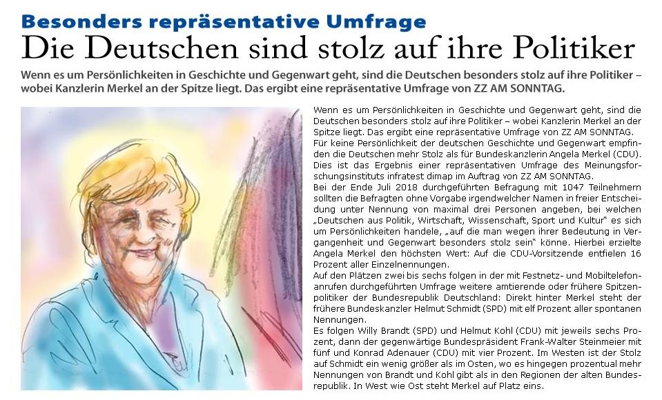 """Aktuelle Springer-Umfrage: """"Die Deutschen sind stolz auf ihre Politiker"""""""