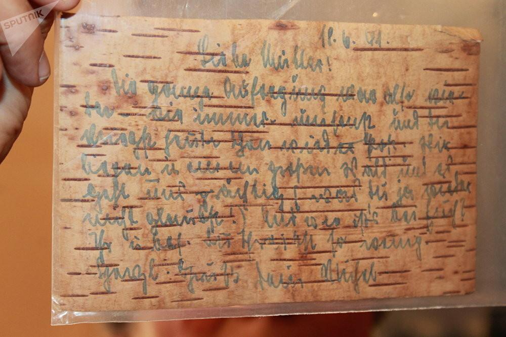 Postkarten auf Birkenrinde – Sohn eines Wehrmachtoffiziers schenkt russischem Archiv Dokumente