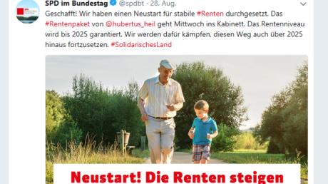 Kein Mittel gegen schlechte Umfragen: SPD-Post zum Thema Rente