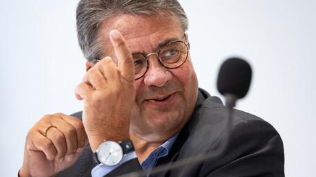 Der Ex-Wirtschafts- und Außenminister Sigmar Gabriel (SPD) bei der Buchvorstellung