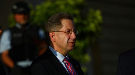 Hans-Georg Maaßen beim Empfang der Sicherheitsbehörden am Dienstag in Berlin