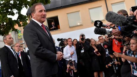 Der amtierende Ministerpräsident Stefan Löfven, Stockholm, Schweden, 9. September 2018.