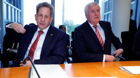 Maaßen und Seehofer am Mittwoch in einem Bundestagsausschuss