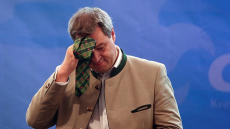 Spitzenkandidat der CSU, Markus Söder beim Wahlkampf in Abensberg, Deutschland, 3. September 2018.