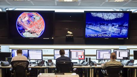 Überwachungsraum des GCHQ, Cheltenham, Großbritannien, 17. November 2015.