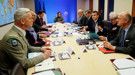 Der französische Generalstab am 14. April 2018: Gemeinsam mit den USA und Großbritannien griff Frankreich verschiedene Einrichtungen des syrischen Staates an.