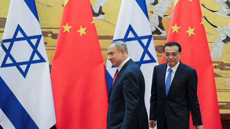 Der chinesische Premierminister Li Keqiang mit seinem israelischen Amtskollegen Benjamin Netanjahu, Peking, China, 20. März 2017.