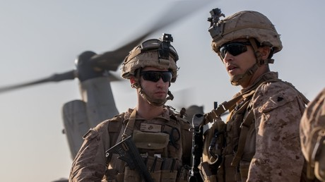 US-Soldat feuert bei Übungen in Syriens al-Tanf-Region eine Rakete ab. Quelle: U.S. Central Command
