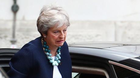 Theresa May, Downing Street in London, Großbritannien, 10. September 2018.
