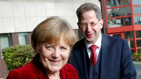 Opfer im Kampf um die Deutungshoheit? Verfassungsschutzchef Maaßen mit der Kanzlerin im Oktober 2014