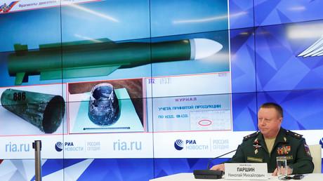 Das russische Verteidigungsministerium präsentierte am Montag neue Erkenntnisse zum Absturz von Flug MH-17.