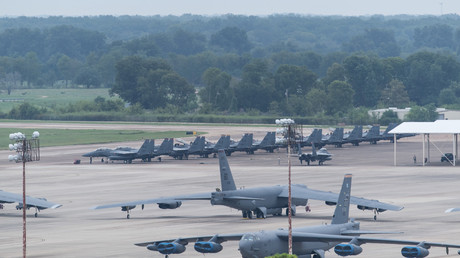 US Air Force verlegt Flugzeuge aufgrund des Hurricanes Florence auf die Barksdale Air Force Base in Louisiana.