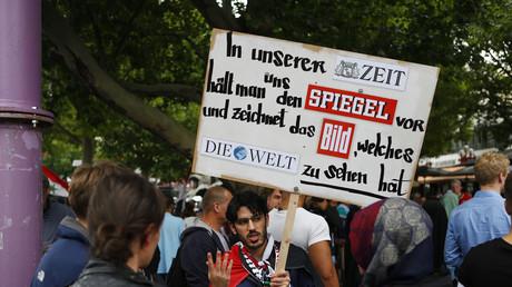 Symbolbild: Proteste in Berlin, Deutschland, 25. Juli 2014.