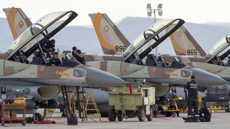 Israelische F-16-Kampfjets in der Ovda Air Force Base. Mit solchen Jets flog Israel am 17. September die Angriffe auf die westsyrische Stadt Latakia.