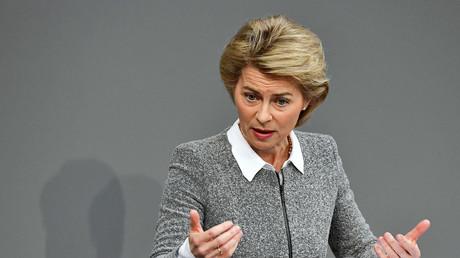 Wenigstens sitzt die Frisur: Ursula von der Leyen im März 2018 vor dem Bundestag