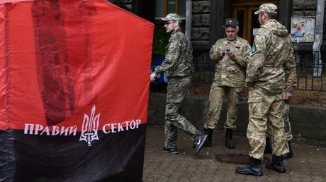 Ukrainische Nationalisten nehmen orthodoxe Kirche ein und verprügeln Kirchgänger (Symbolbild)