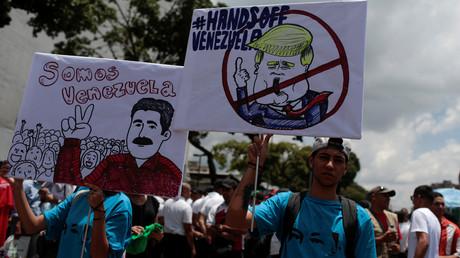 Anhänger des venezolanischen Präsidenten auf einer Demonstration gegen Imperialismus in Caracas. (19. September 2018)