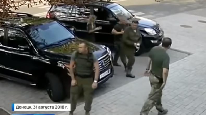 Video zeigt letzte Lebensmomente von Donezk-Präsident Sachartschenko und tödliche Explosion