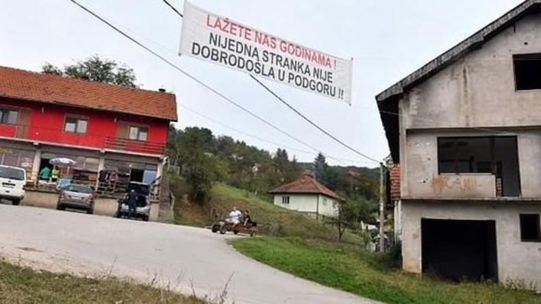 Genug Lügen: Dorfbewohner in Bosnien verbannen alle Politiker vor Wahlen