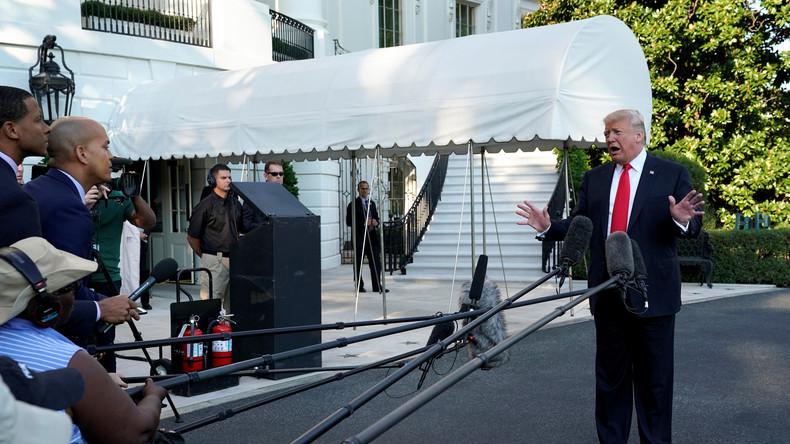 US-Präsident Donald Trump im Duell mit Pressevertretern (Video)