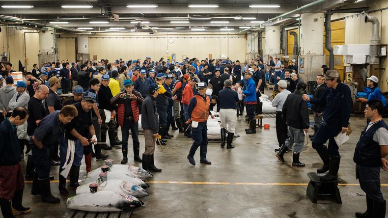 In Tokio schließt Tsukiji-Fischmarkt – Stadt bereitet sich auf Olympia 2020 vor