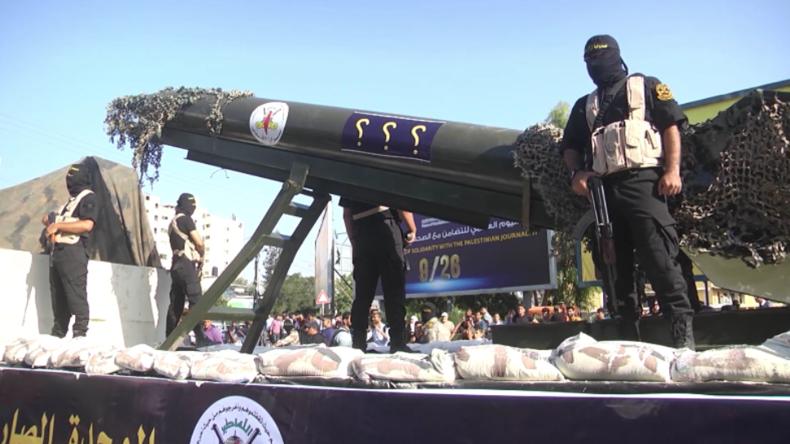 """""""Islamischer Dschihad in Palästina"""" ehrt neuen Chef mit Militärparade in Gaza-Stadt"""