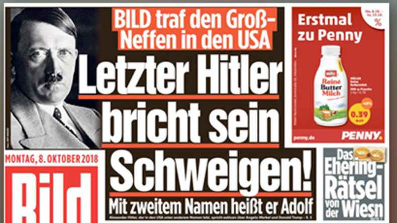 """""""Hitler – ein Merkel-Fan!"""" – BILD irrlichtert im Führer-Fieber"""