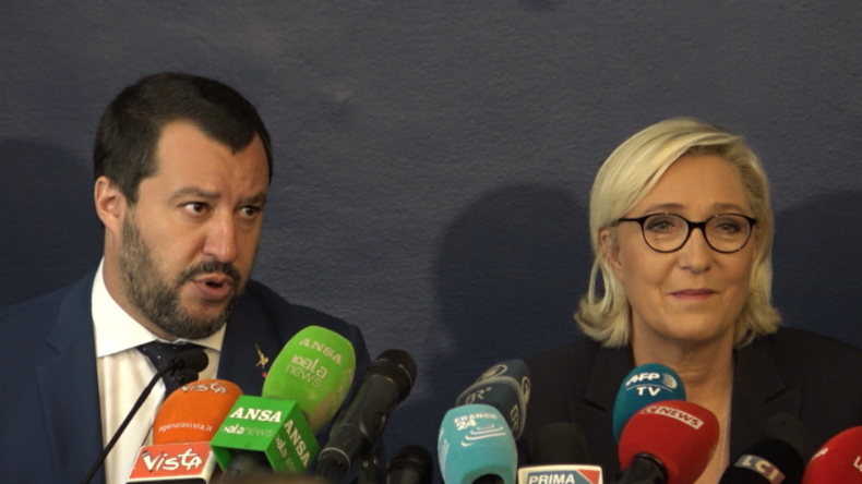 Salvini und Le Pen: Brüsseler Politik ist gegen EU-Bürger und für unterbezahlte Sklaven in Industrie