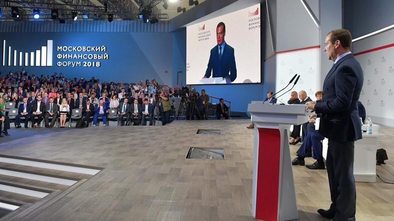 Premierminister Medwedew: Russland wird sich nicht vom Westen eindämmen lassen