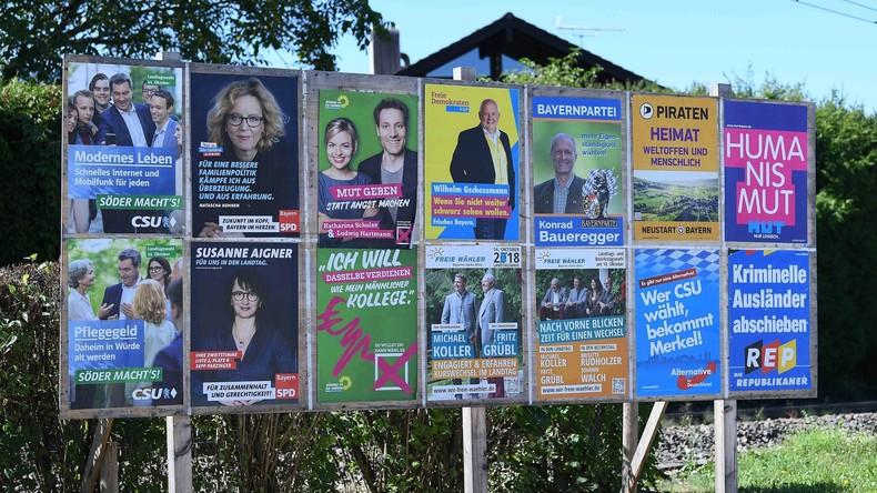 Rund 40 Prozent noch unentschieden: Parteien in Bayern gehen noch schnell auf Stimmenjagd
