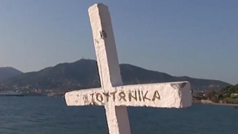 Denkmal für ertrunkene Flüchtlinge auf griechischer Insel Lesbos beschädigt