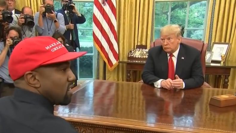 """Kanye West besucht Trump im Oval Office: """"Wenn du schlecht dastehst, steht unser Land schlecht da"""""""