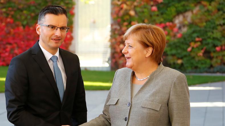 Pressekonferenz Angela Merkels und des slowenischen Premierministers Marjan Šarec (Video)