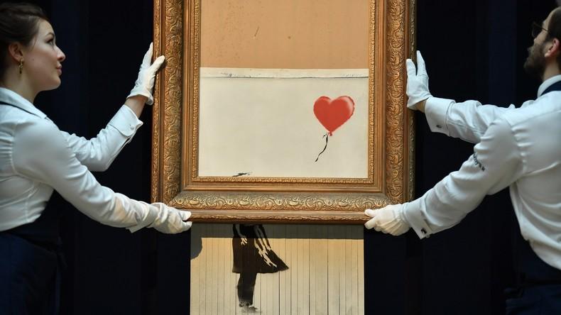 Sotheby's verkauft Banksys geschreddertes Bild als neues Kunstwerk