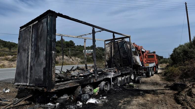 Elf Migranten verbrennen bei Verkehrsunfall in Griechenland