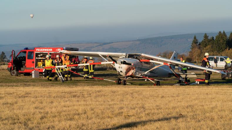 Landeanflug von Sportflugzeug in Hessen missglückt – drei Fußgänger tot