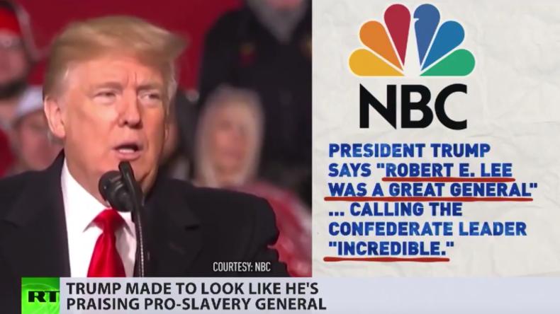 Fake-Lob Trumps für Südstaaten-General: US-Medien spalten Bevölkerung (Video)