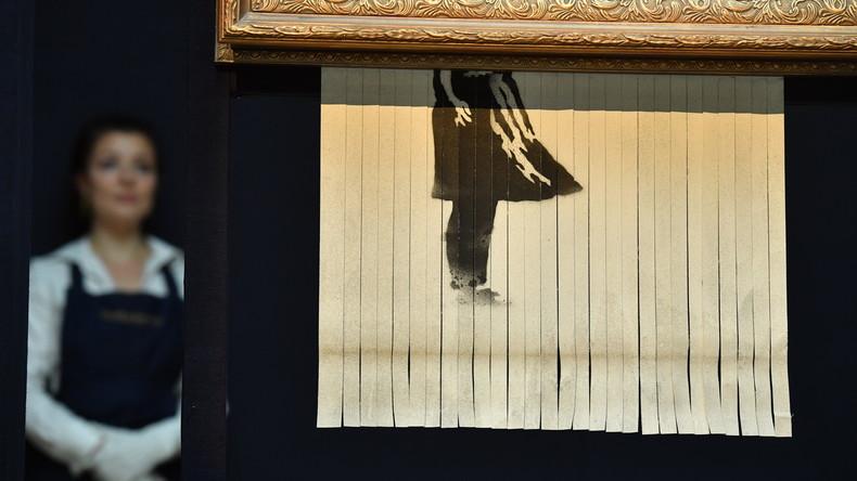"""""""Director's Cut"""" gescheitert: Banksy wollte sein Werk bei Auktion vollständig zerstören"""