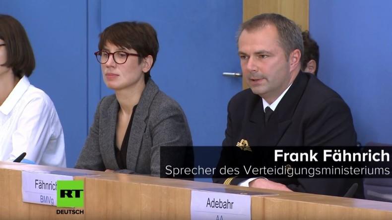 BPK: Merkel-Sprecher gehen Argumente aus, um Aufrüstung gegen Russland zu rechtfertigen