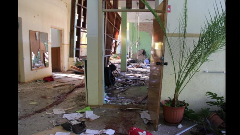Exklusiv-Aufnahmen zeigen Zerstörung in Fachschule auf der Krim nach Attentat