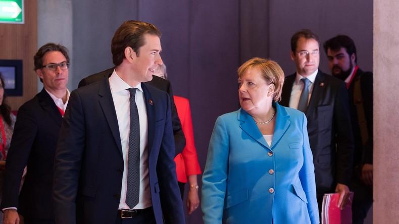 Streit um verpflichtende Quoten in der EU: Kanzlerin Merkel torpediert Asylplan von Sebastian Kurz