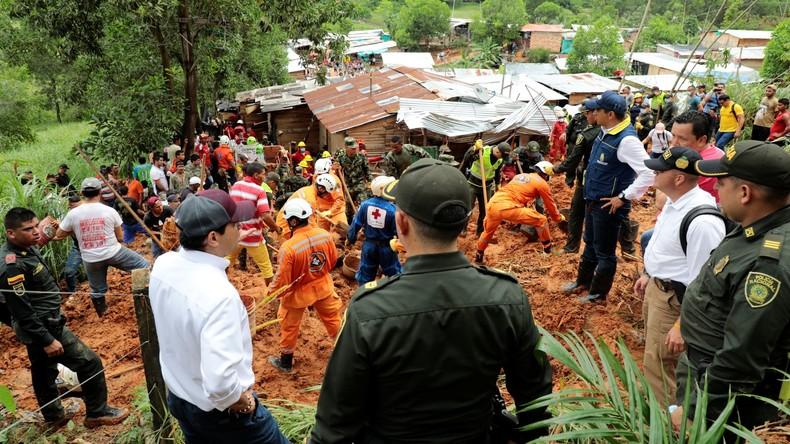 Neun Tote durch Erdrutsch im Norden Kolumbiens