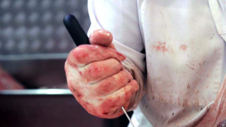 Stecherei in Metzgerei – türkischer Häftling verletzt elf Menschen mit Messer