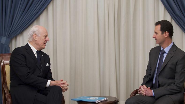 UN-Syrienvermittler de Mistura zu Besuch in Damaskus eingetroffen