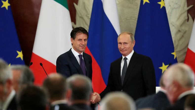 Putin zu Conte: Russland und Italien entwickeln ihre Beziehung trotz widriger Umstände weiter